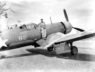 """F4U-1 Corsair """"George,"""" Munda Airstrip"""