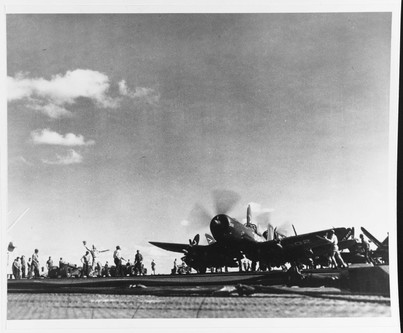F4U-4B corsair  USS Philippine Sea (CV-47)