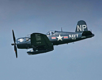 United-States-Navy F4U-5NL Corsair equipped with the air intercept radar (right-wing) and a 154 gall