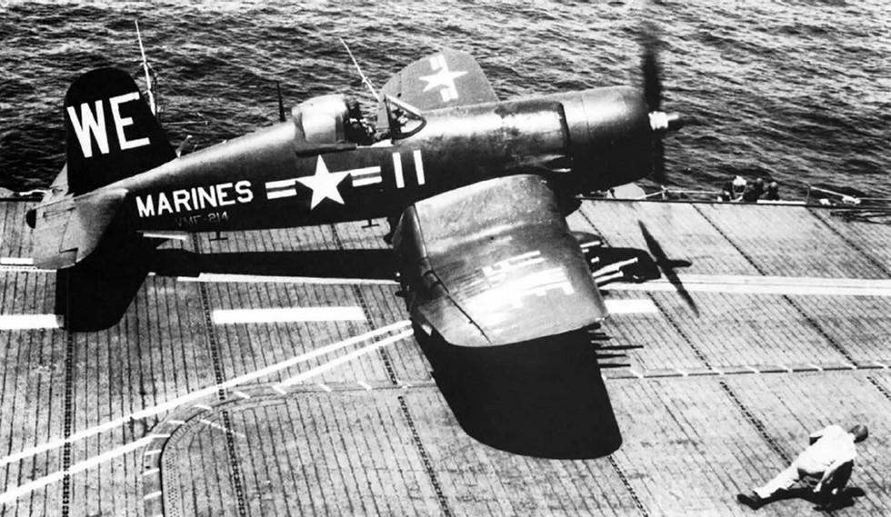U.S. Marine Corps Vought F4U-4C Corsair from Marine fighter squadron VMF-214