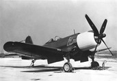 A U.S. Navy Goodyear F2G-1 Corsai