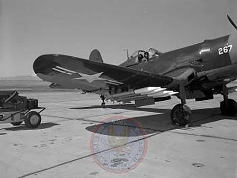 Vought F4U-4 Corsair at NOTS, China Lake, California