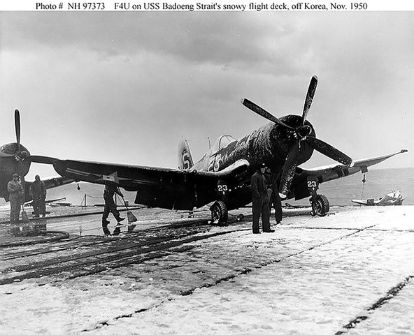 Marine Corps F4U-4B Corsair fighter