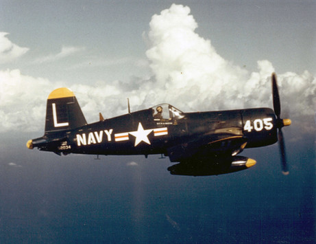 A U.S. Navy Vought F4U-4 Corsair (BuNo 82034) of Fighter Squadron 74 (VF-74)