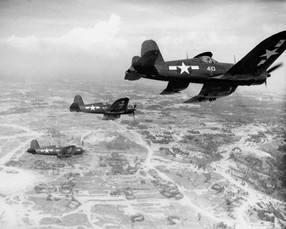 FG-1 Corsair fighters of US Marine Corps squadron VMF-323
