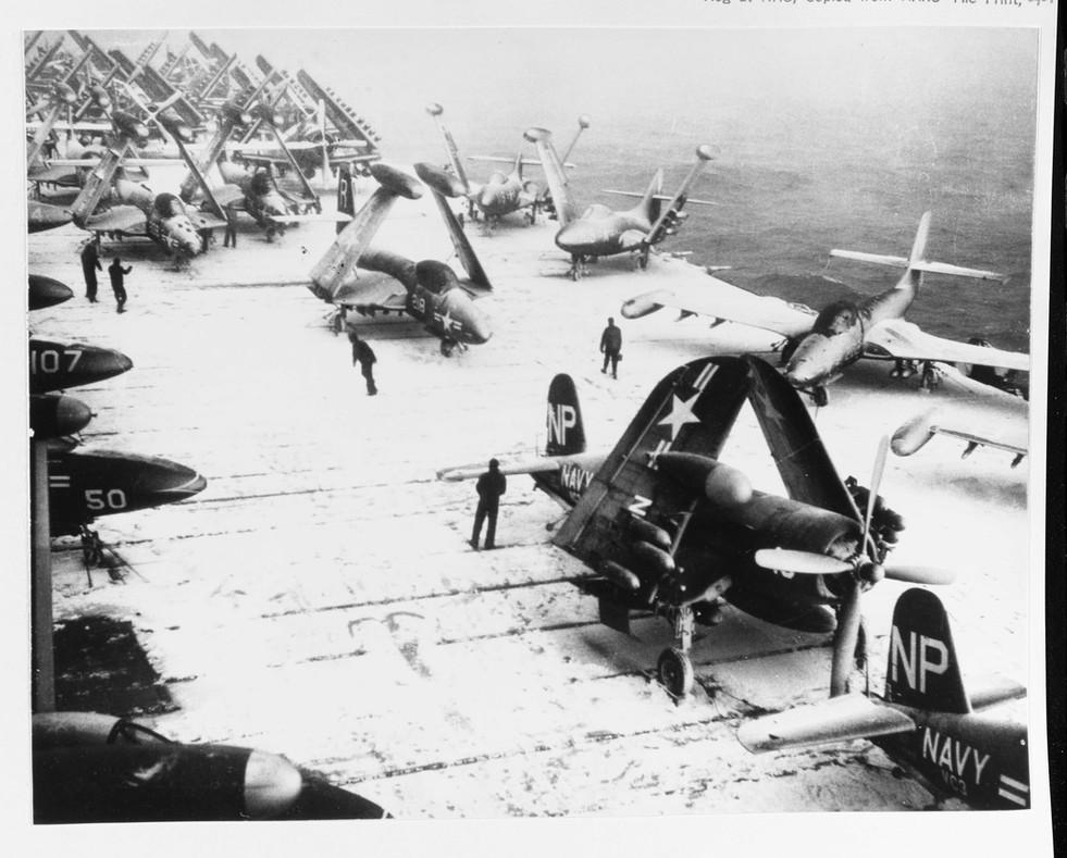 F4U-5N on the USS Essex (CV-9)