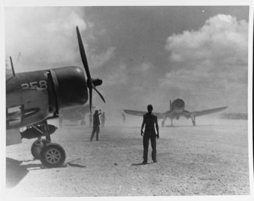 """Vought F4U-1D """"Corsair"""" fighters"""