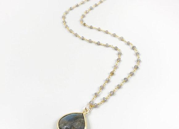 FabFacetsStudio - Labradorite Necklace with Labradorite Pendant