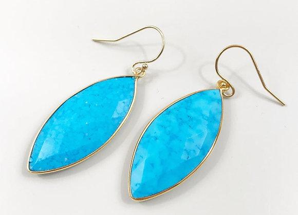 FabFacetsStudio - Turquoise Marquise Drop Earrings