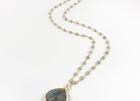 Labradorite Necklace with Labradorite Pendant