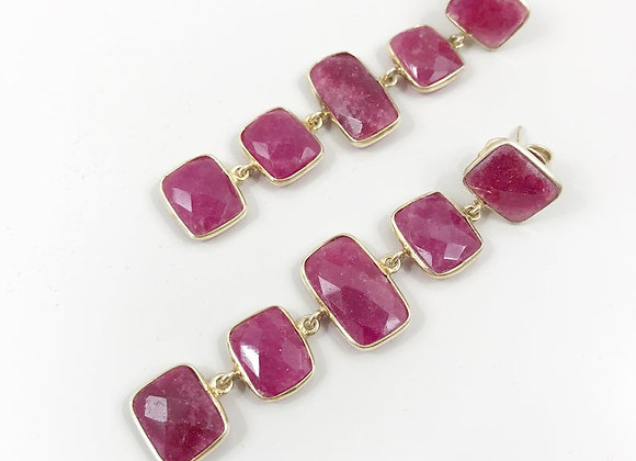FabFacetsStudio - Ruby 5 Piece Dangle Earrings