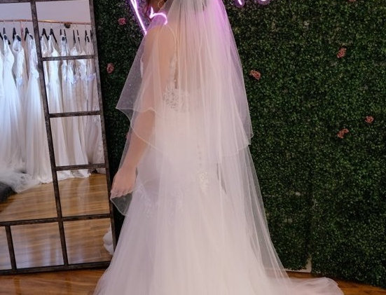 ITALIAN TULLE, SIMPLE EDGED VEIL
