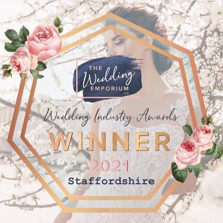 AWARD WINNERS BEST WEDDING DRESS SHOP IN STAFFORDSHIRE 2021!