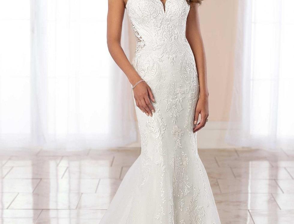 STELLA YORK 6979 SIZE 16 MERMAID WEDDING DRESS IVORY