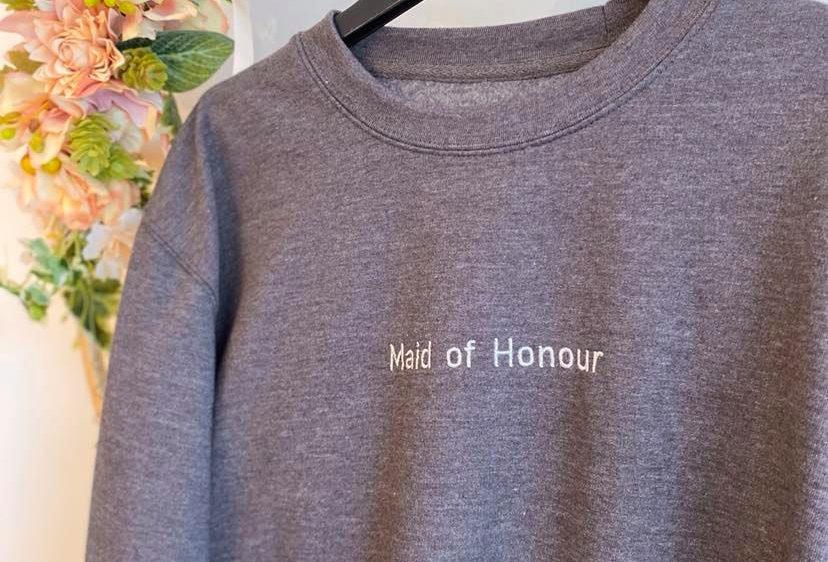 Maid of honour crew neck jumper