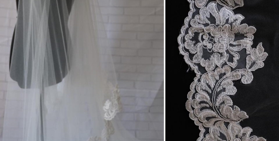 CORDED LACE EDGE VEIL