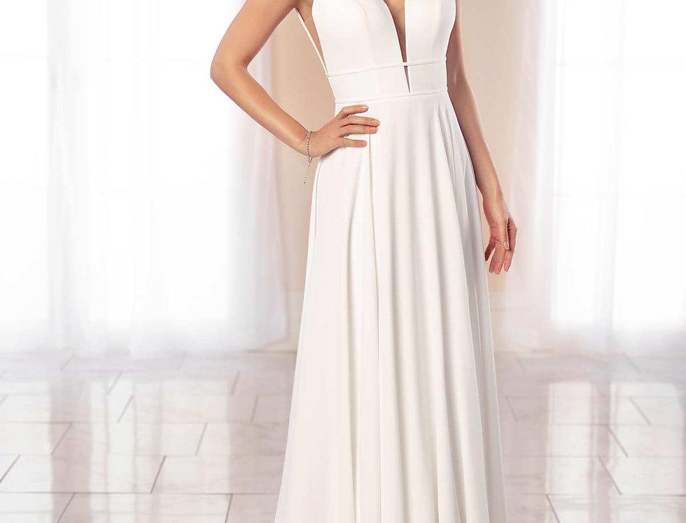 STELLA YORK 7042 SIZE 14 SHEATH, COLUMN WEDDING DRESS