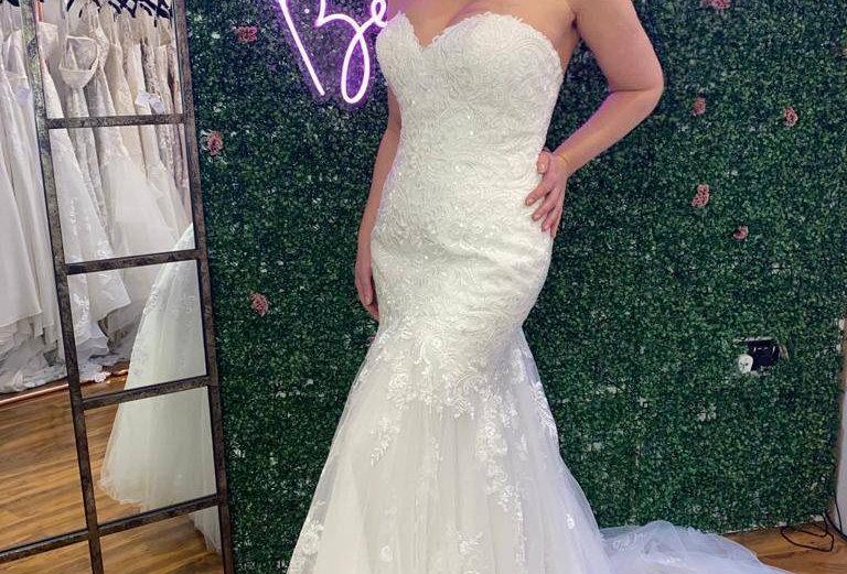 STELLA YORK MERMAID WEDDING DRESS SIZE14. IVORY