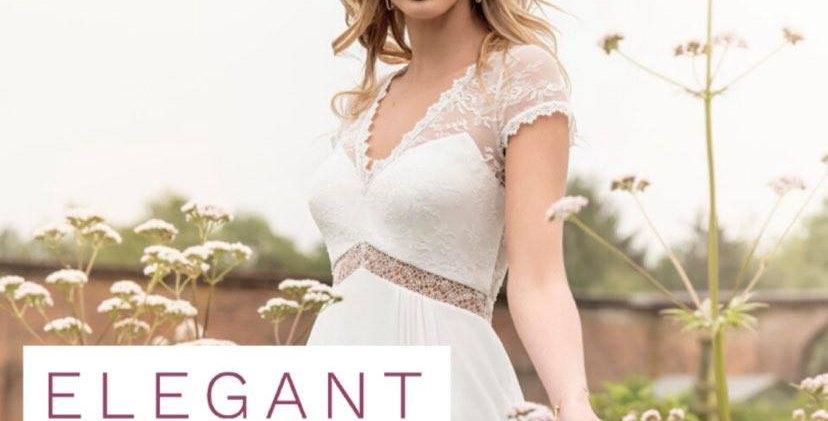 WEDDING DRESS, ELEGANT CLASSIC, SIZE 14