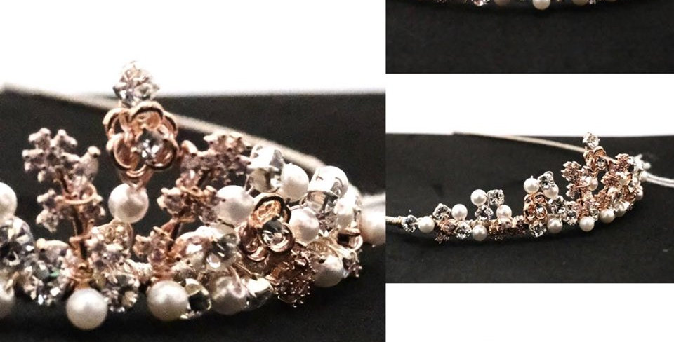 DELICATE CLUSTERED TIARA