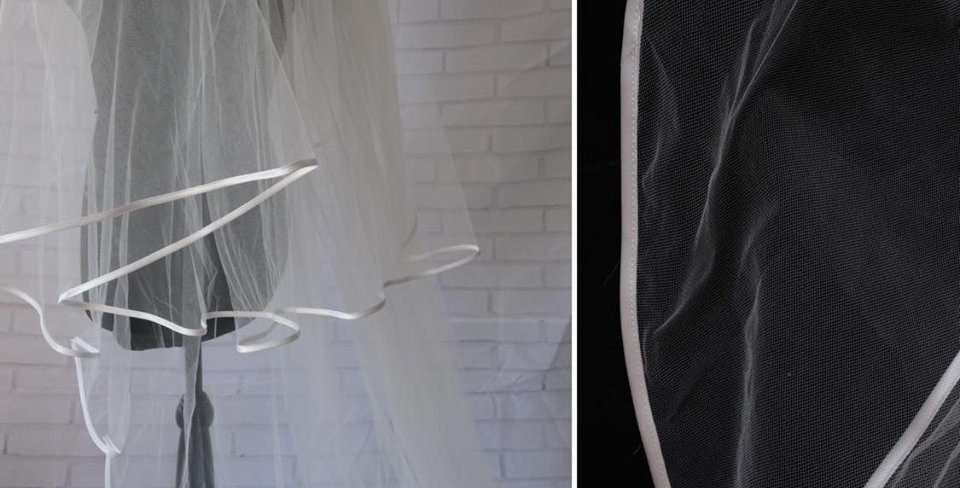 RIBBON EDGE VEIL