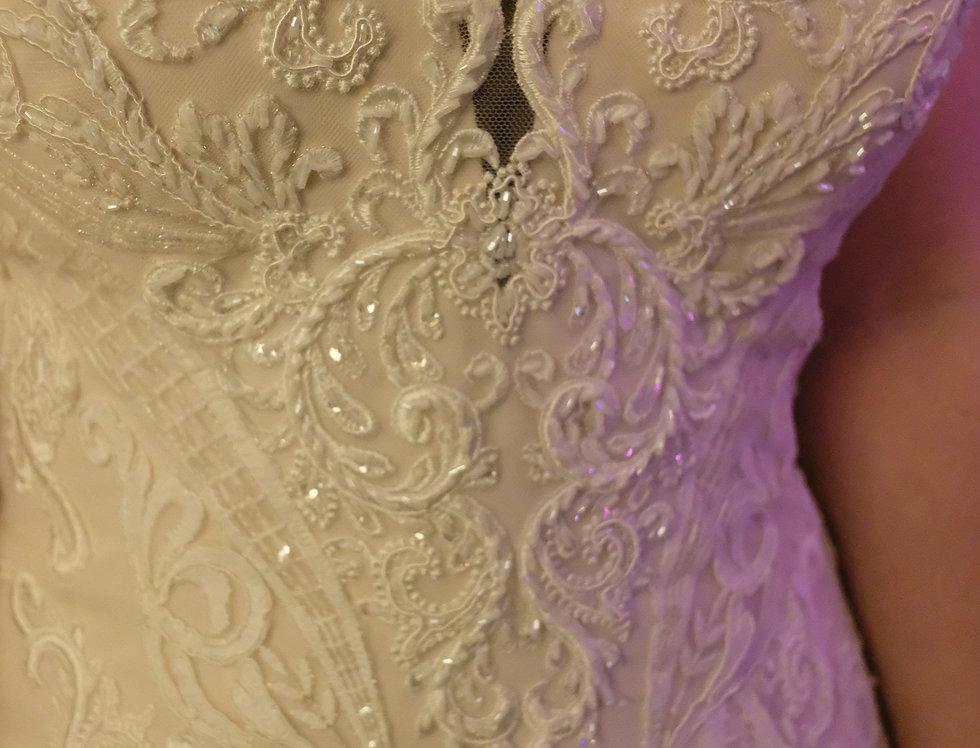 STELLA YORK WEDDING DRESS, MERMAID SIZE 18