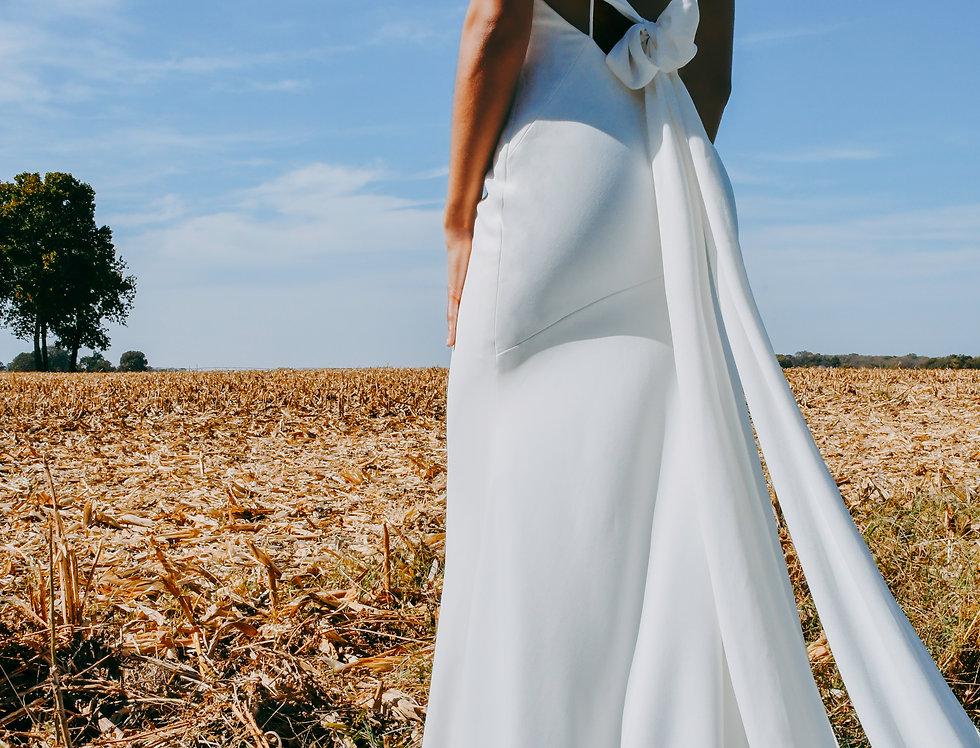 STELA YORK 7290 SHEATH FITTED WEDDING DRESS