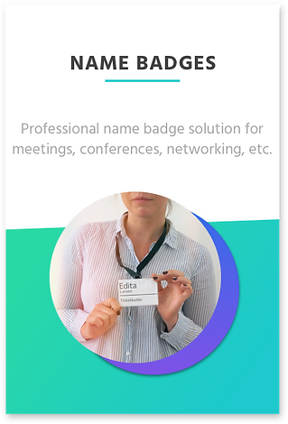 Name badges for events link