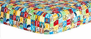 Dr. Seuss Alphabet Seuss Squares Crib Sheet