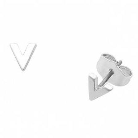 Liberte Petites V silver earrings