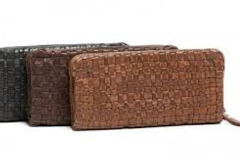 Barbara Woven Leather Wallet