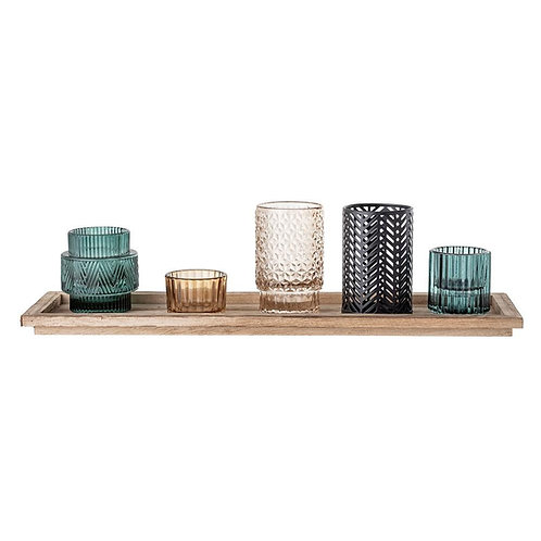 Bloomingville -votive multicoloured glass