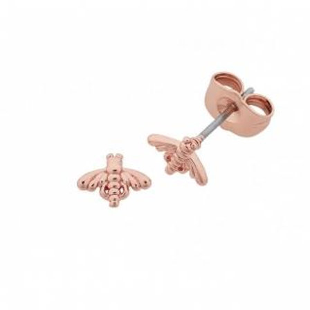 Liberte Petite Bumble Bee Rose Gold Earrings