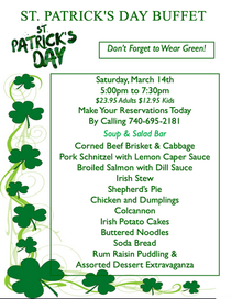 St. Patrick's Irish Buffet
