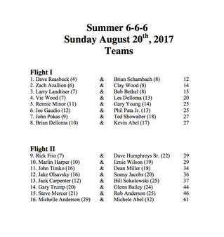 Summer 6-6-6 Flights