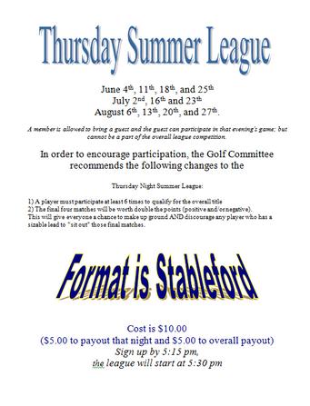 Thursday Summer League