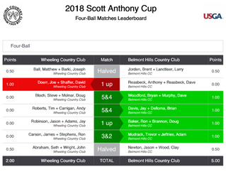 Scott Anthony Cup Fourball Results