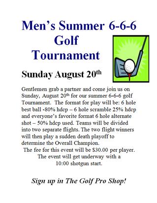 Men's Summer 6-6-6