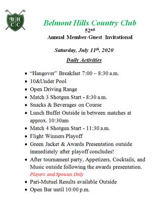Saturday Itinerary