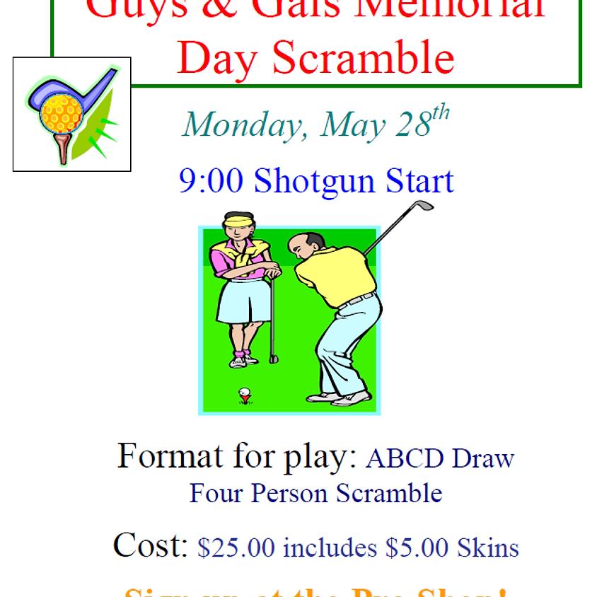 Guys & Gals Memorial Day Scramble