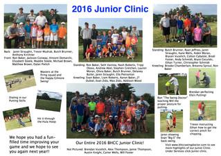 2016 Junior Clinic Flyer