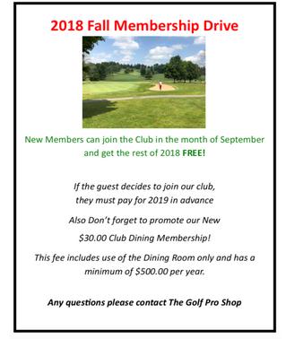2018 Fall Membership Promotion