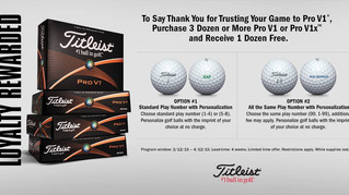 Titleist Ball Promotion/ Fitting