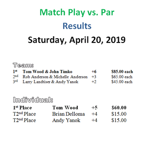 Match Play Vs. Par Results