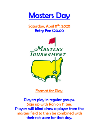 Masters Day Tourney