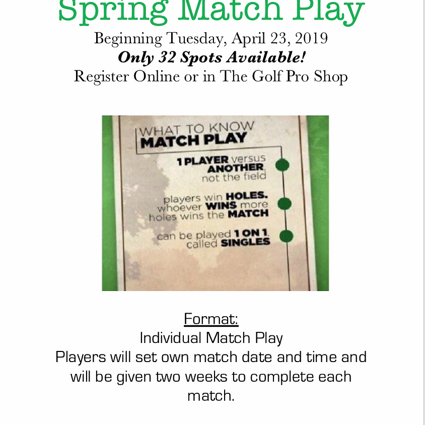 Spring Match Play