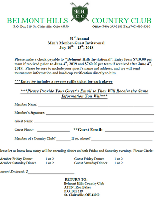 Member-Guest Entry Form