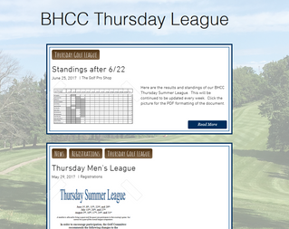 Thursday Golf League Section