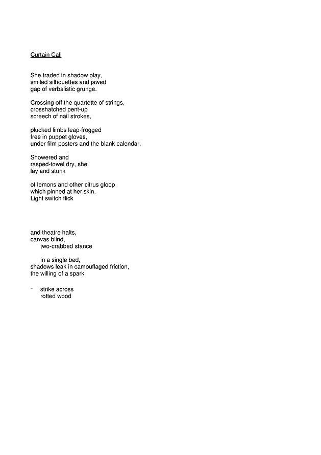 Sarah Elizabeth Nicoll Poetry Submission
