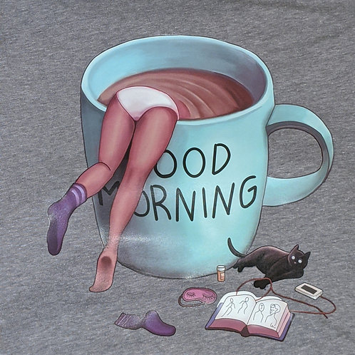 Good Morning - Gray Tee